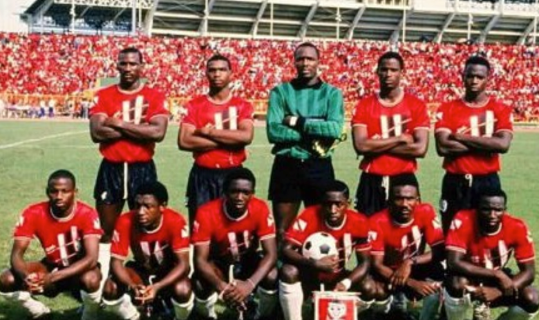 Trinidad's 1989 winning team including Kenwyne's uncle (Image from Kenwyne's Instagram)