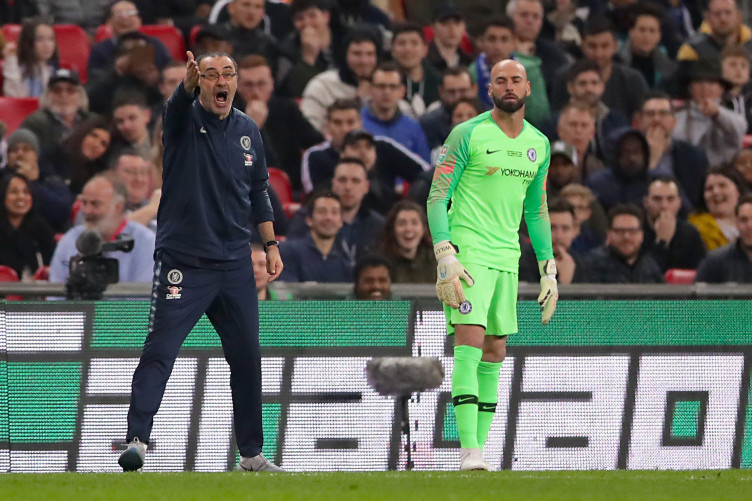 The beginning of the end - Kepa's refusal to be substituted during the Carabao Cup final did more damage to Sarri than expected (Image from Tumblr)