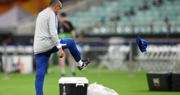 Sarri has cut a frustrated figure of late (Image from Tumblr)