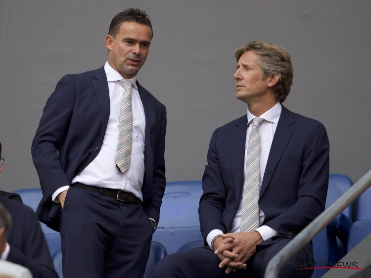Marc Overmars and Edwin Van der Sar have both attracted interest from other clubs following Ajax's success (Image from reddit)