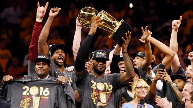 Cleveland Cavaliers sealed the NBA Finals in 2016 in dramatic fashion (Image from Tumblr)