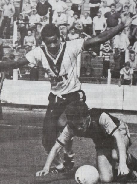 Mark Bright during his early days as a Port Vale player (Image from PVFC)