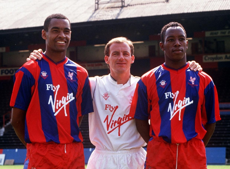 Bright, Steve Coppell and Ian Wright (Image from CPFC)