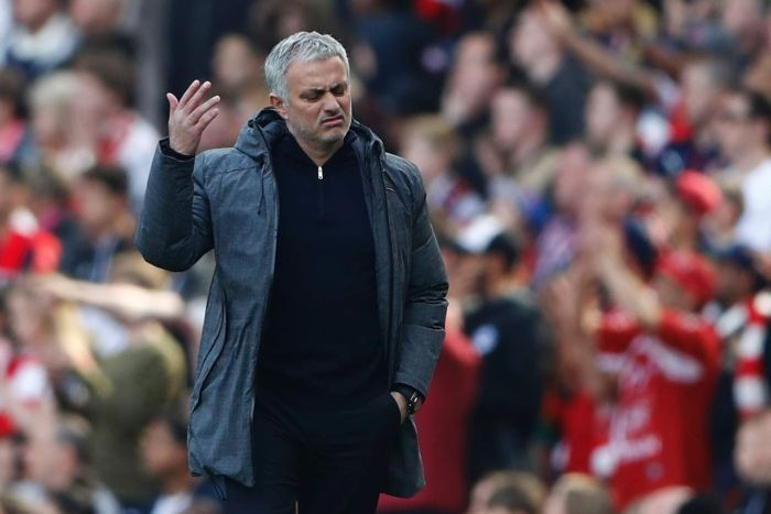 The Unhappy One - Jose never really looked like he was happy to be in Manchester (Image from Tumblr)